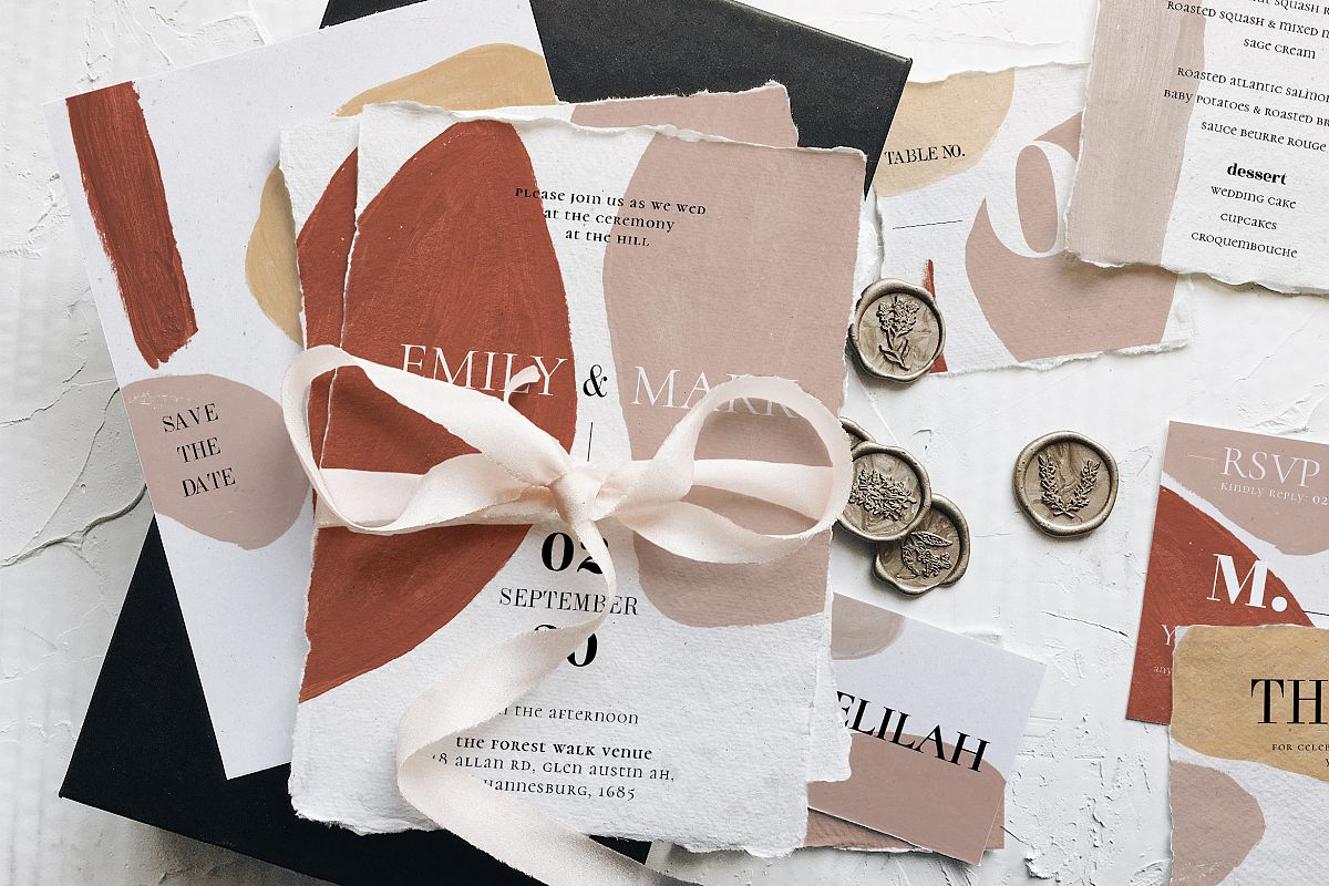 Modern Abstract Wedding Suite example image 1