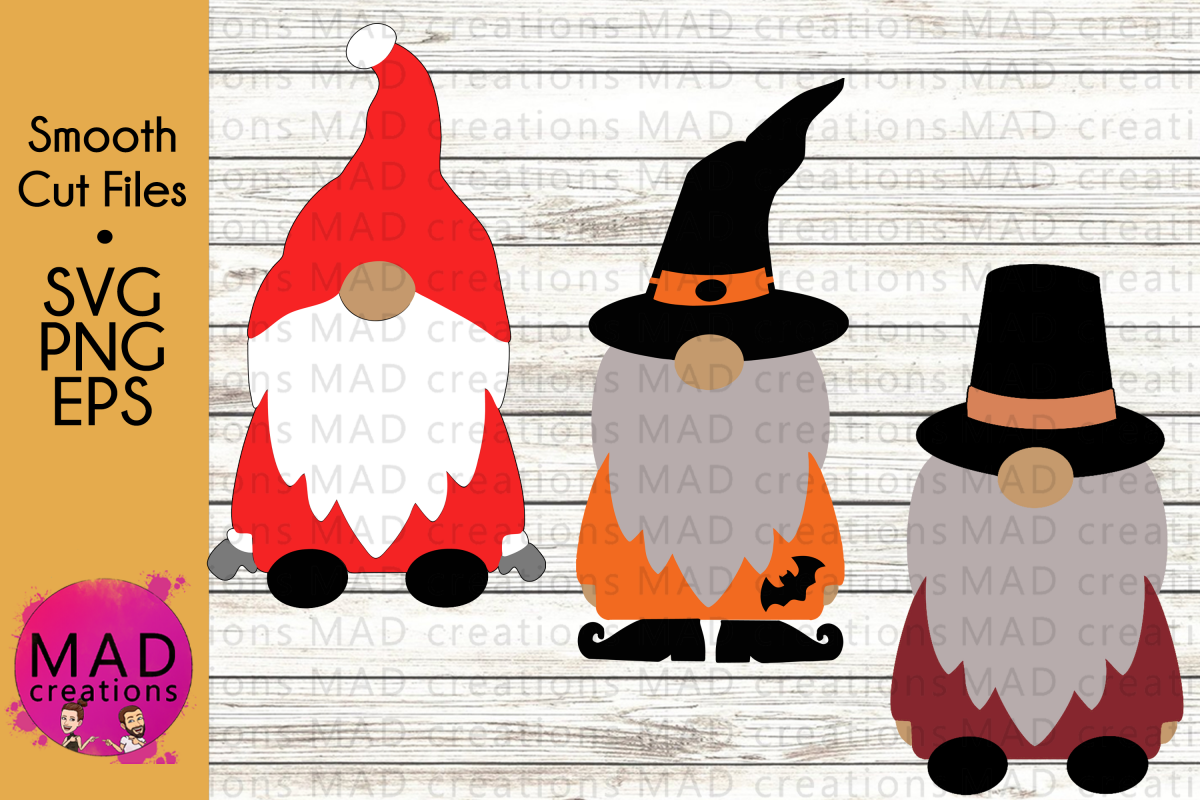 Holiday Gnomes Bundle - Christmas Thanksgiving Halloween example image 1