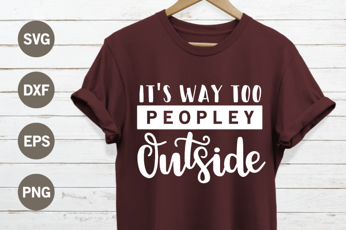 Its way too peopley outside SVG example image 1