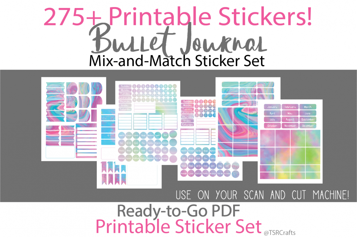 Bullet Journal and Planner Stickers - Rainbow / Unicorn Set example image 1