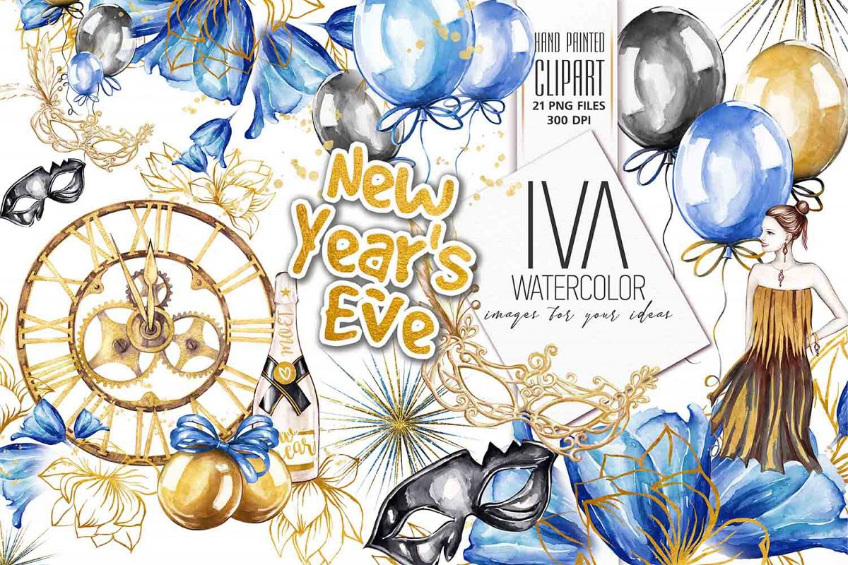 New Year's Eve Clipart example image 1