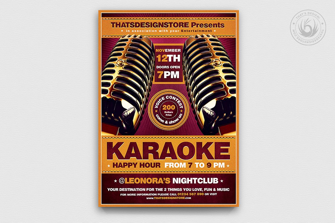 Karaoke Flyer Template V2