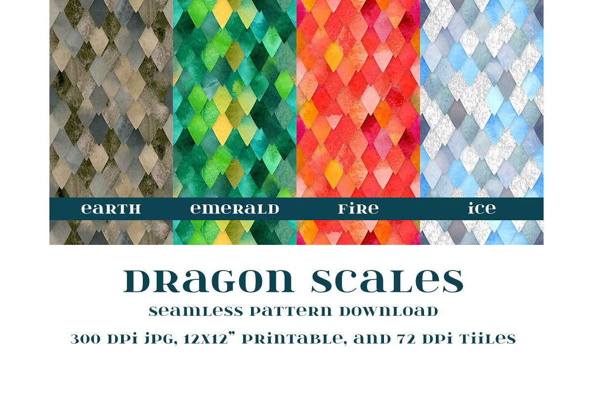 Dragon Scales Seamless Pattern example image 1