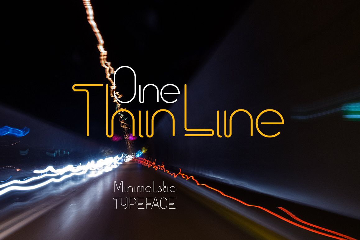 One Thin Line font example image 1