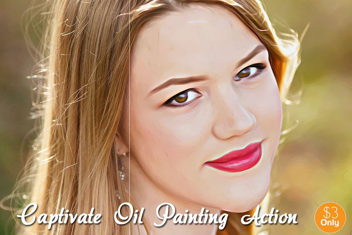 Captivate Oil Painting Action example image 1