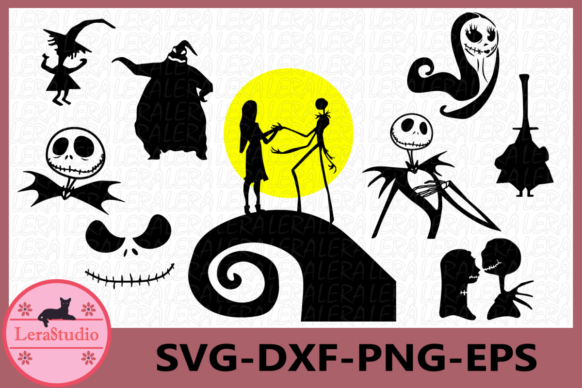 Nightmare Before Christmas SVG, Jack Skellington svg example image 1