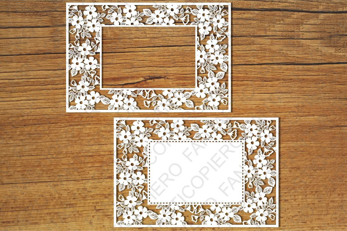 Ornamental Frame 5 SVG files for Silhouette and Cricut. example image 1