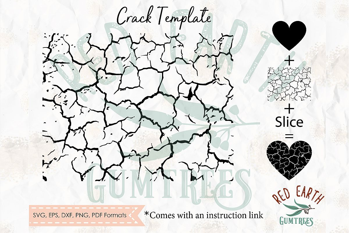 Make your own cracked objects in cricut with instructions