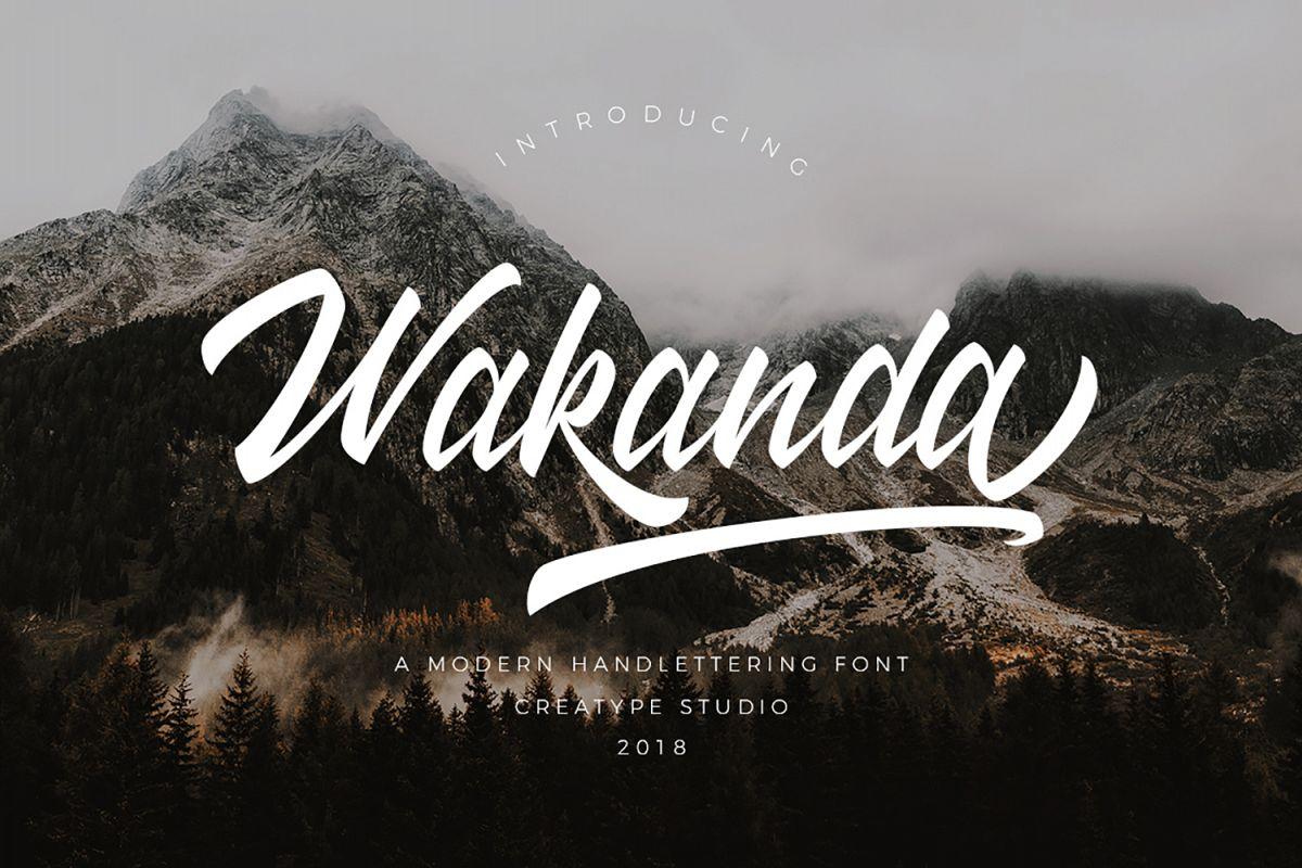 Wakanda Script Font example image 1