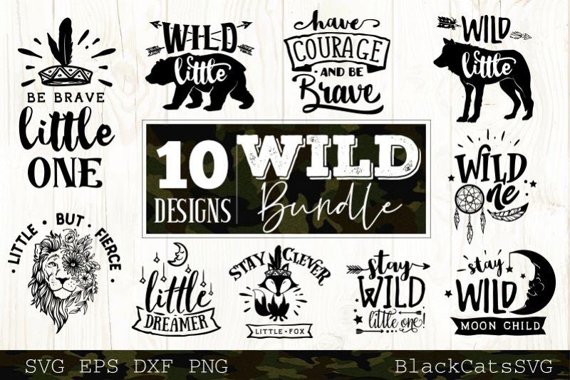 Wild SVG bundle 10 designs Wild Baby SVG bundle vol 3 example image 1