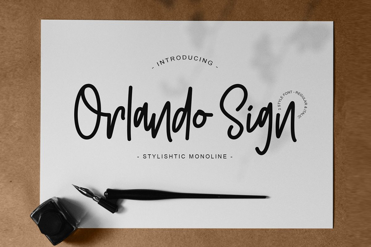 Orlando Sign | Stylishtic Monoline example image 1
