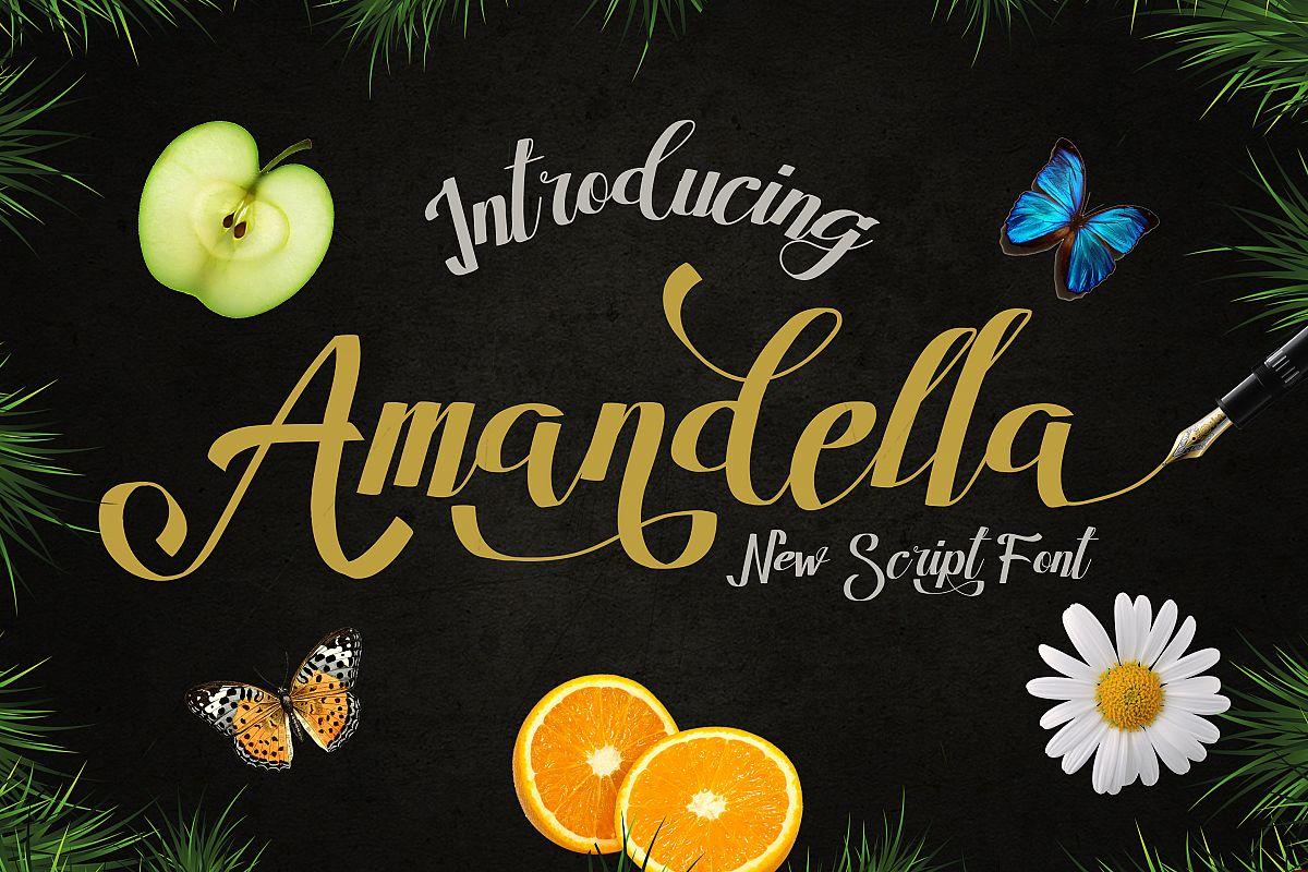 Amandella Script example image 1