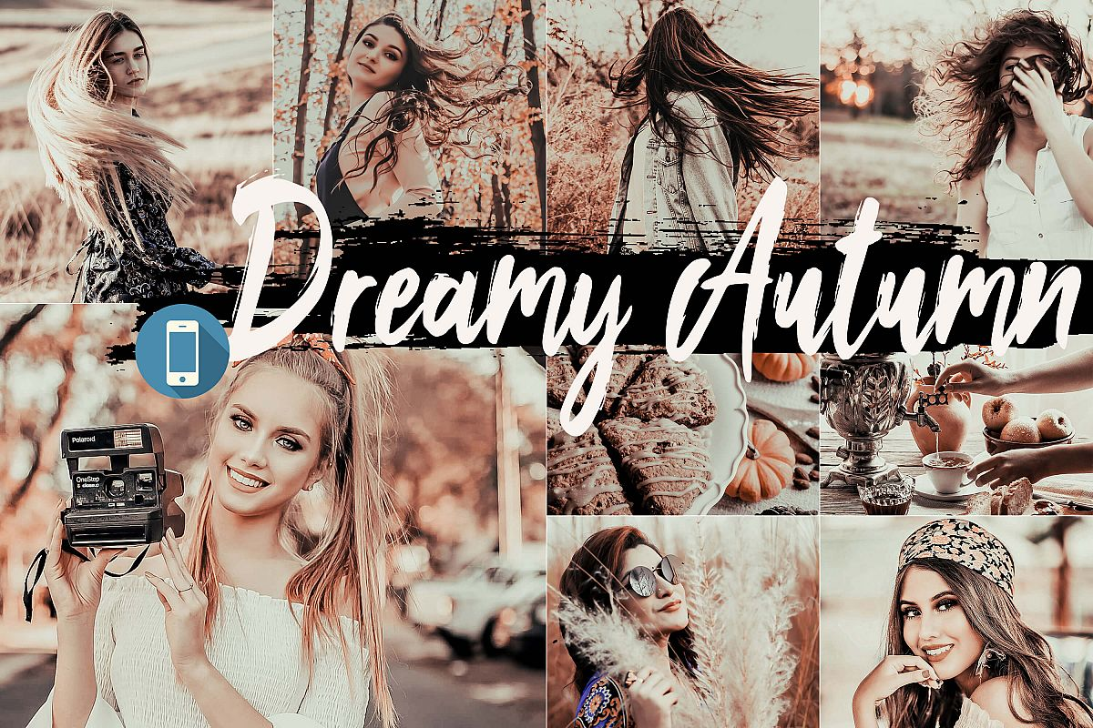 5 Dreamy Autumn Mobile Lightroom Presets, fall filter Adobe example image 1