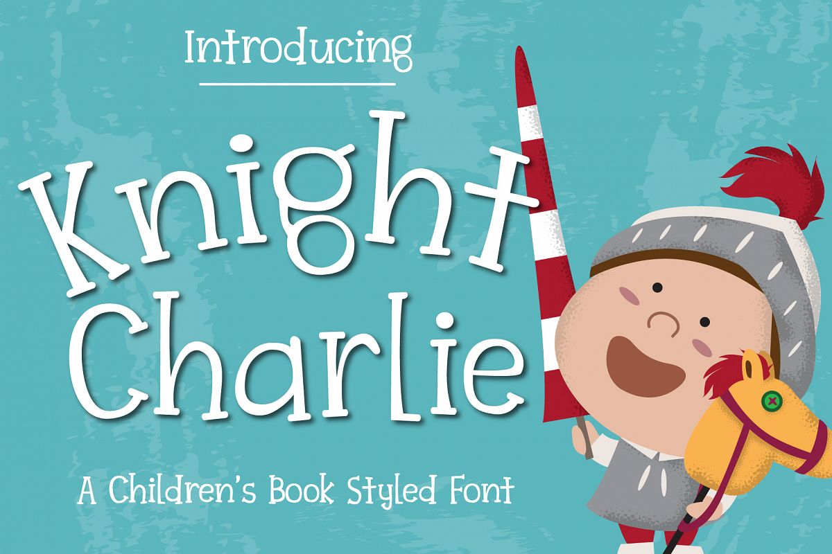 Knight Charlie - Children Font example image 1