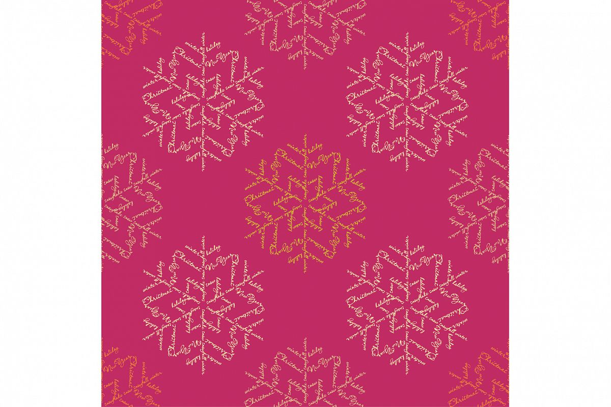 Seamless background with snowflakes example image 1