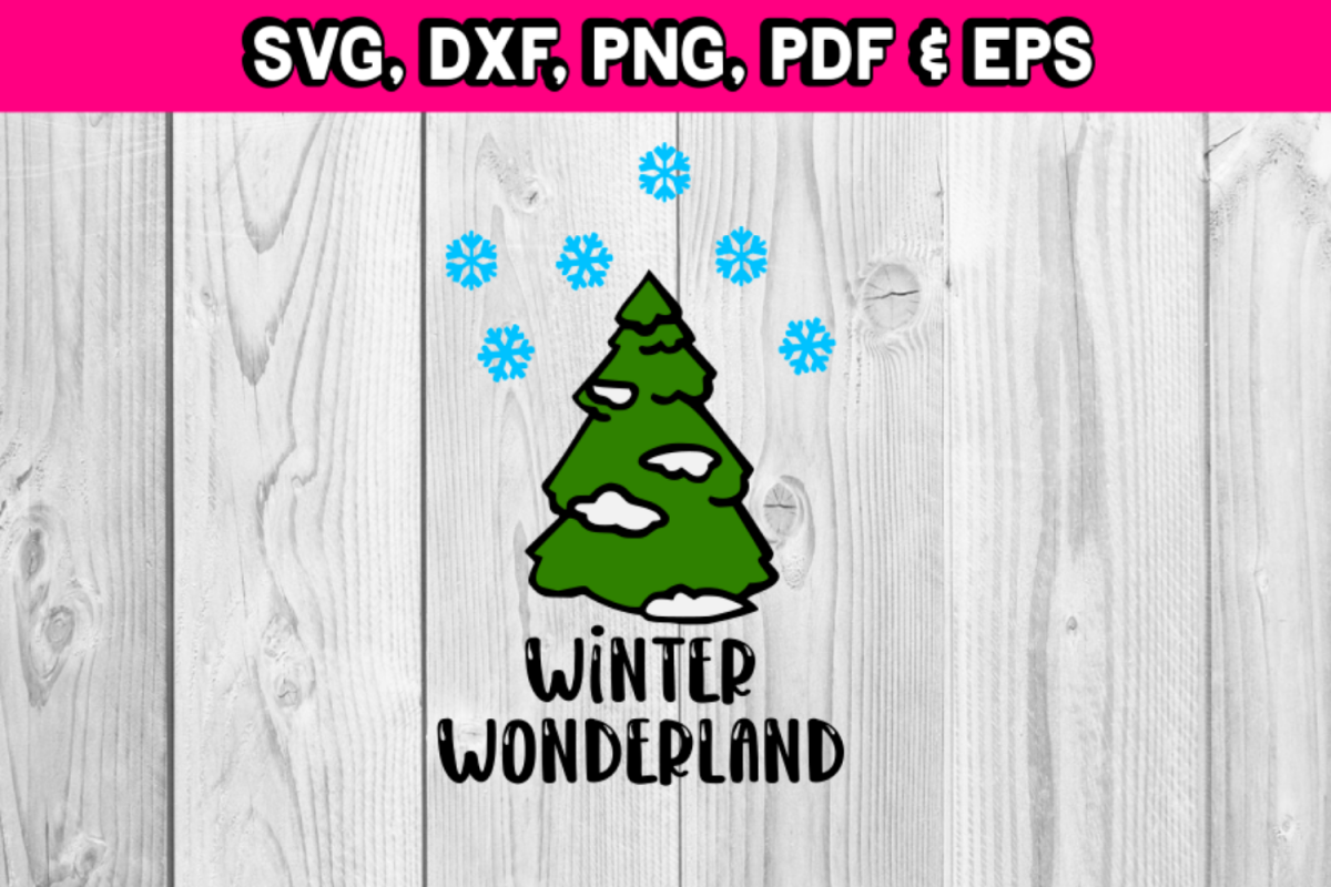 Winter Wonderland tree with snow example image 1