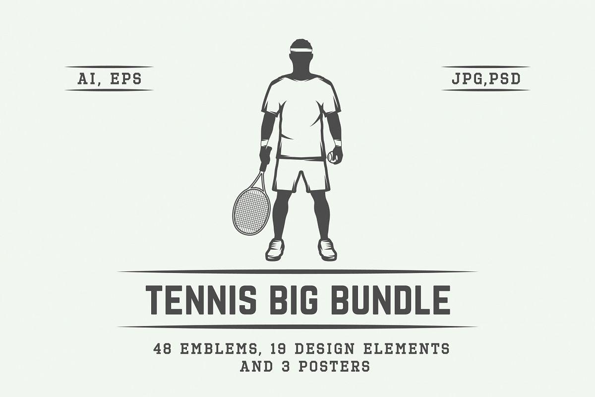 Vintage Tennis Emblems Bundle example image 1