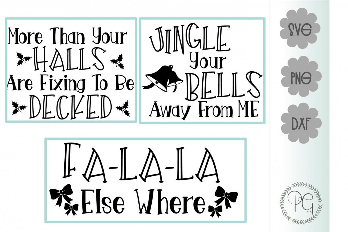 Christmas Funny Bundle SVG PNG DXF example image 1