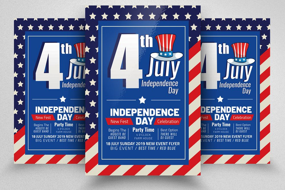 4th of July Independence Day Flyer example image 1