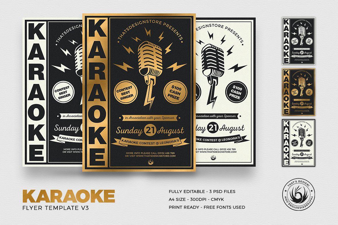 Karaoke Flyer Template V3