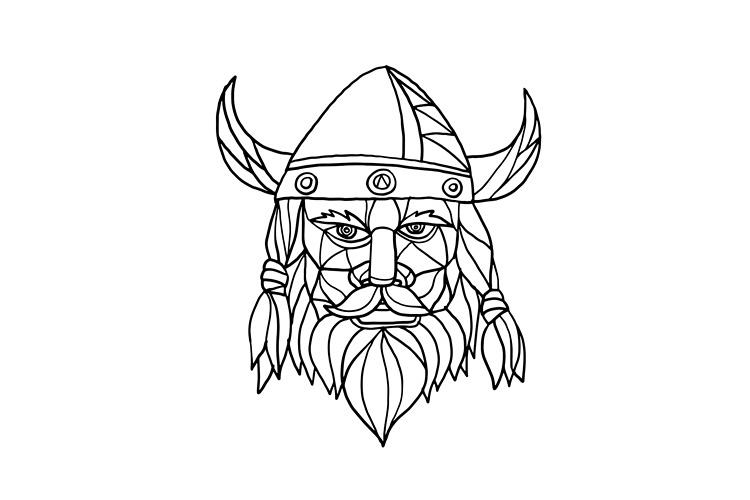 Norseman Black and White Mosaic example image 1