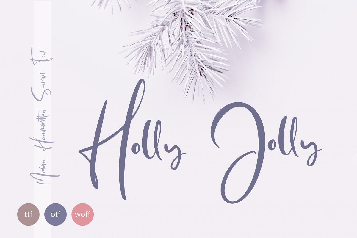 Holly Jolly Hand Drawn Font example image 1
