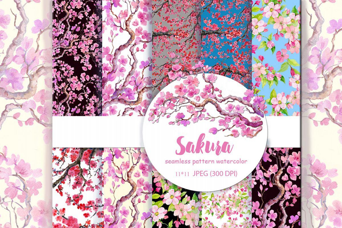 Sakura .seamless pattern.floral pattern example image 1