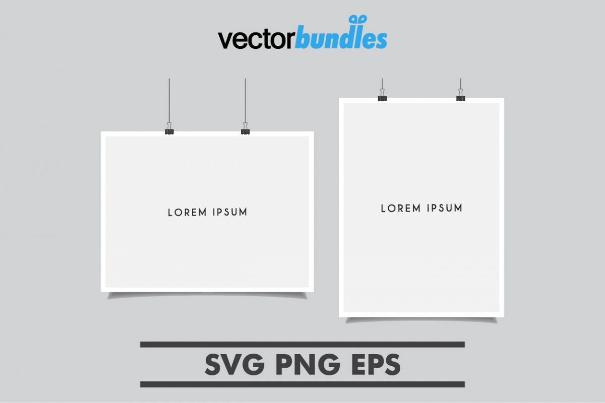 Poster place holder template example image 1