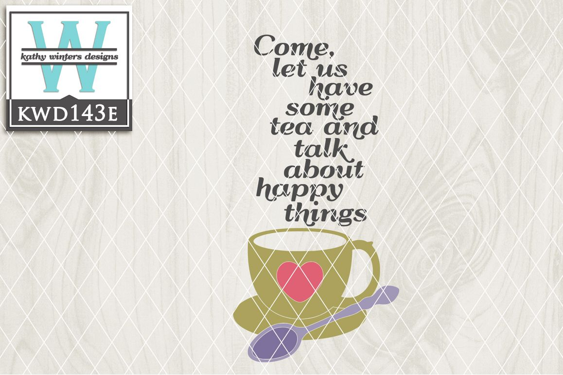 Tea Cutting File KWD143E example image 1