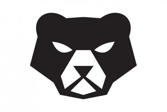 American Black Bear Head Retro example image 1