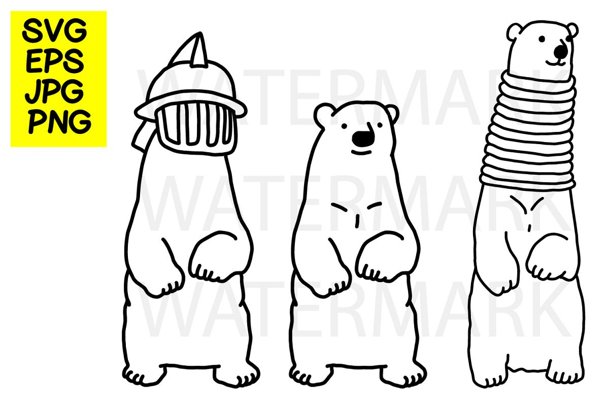 Bear with gladiator helmet- SVG-EPS-JPG-PNG example image 1