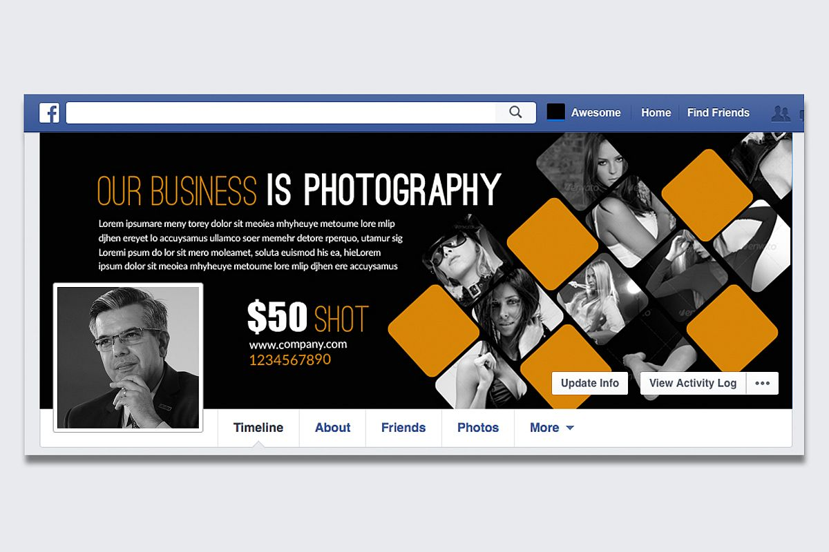 Photography Business Facebook Timeline example image 1