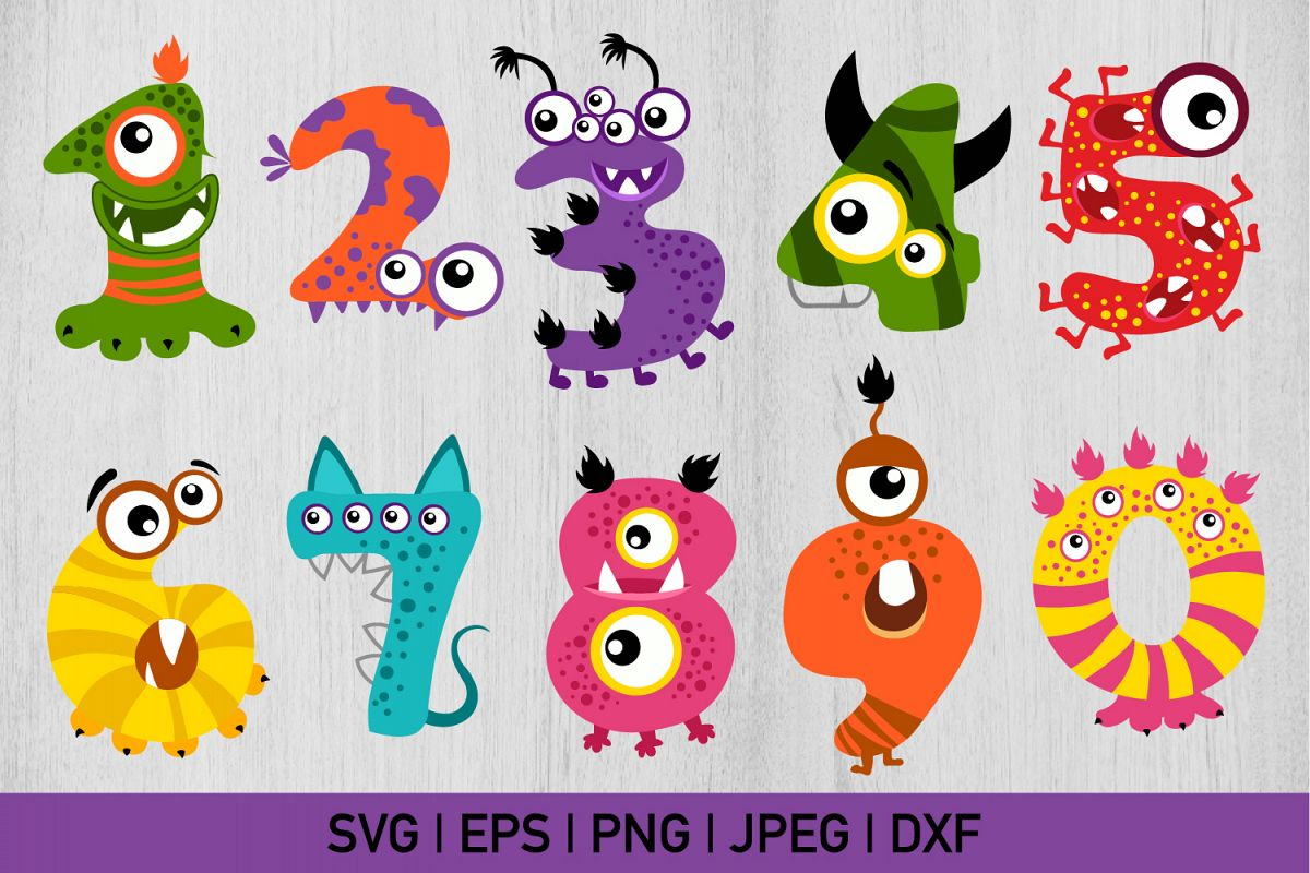 Halloween Monster Numbers Bundle example image 1