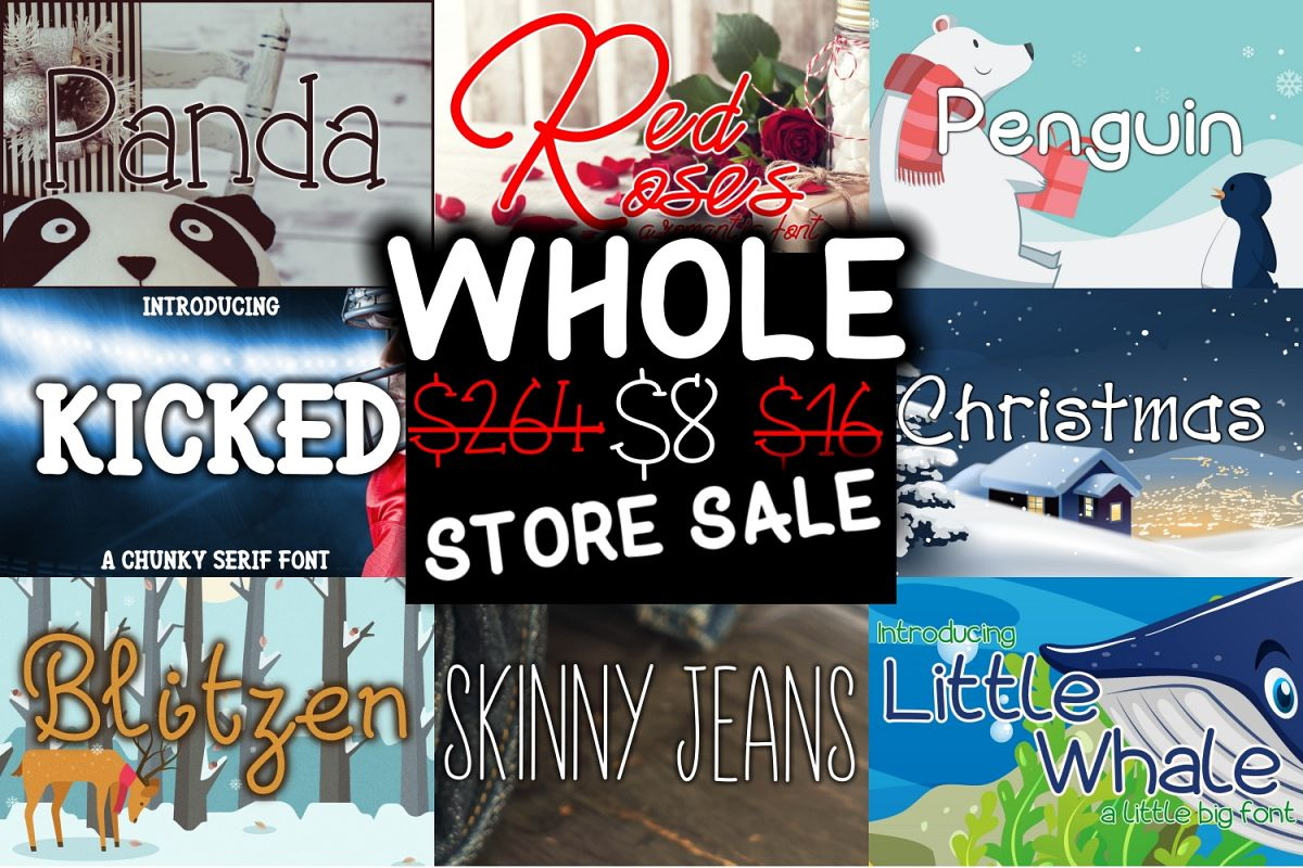 The Hella Cool Font Bundle - UPDATED example image