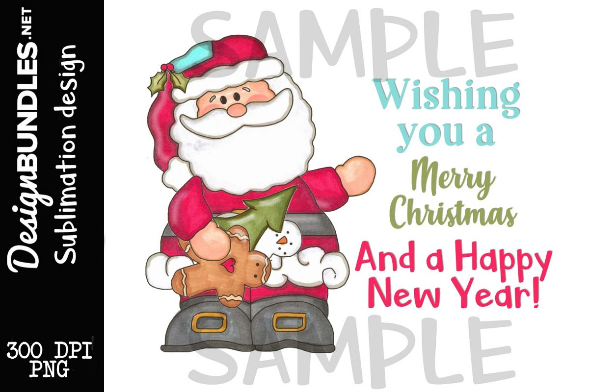 Merry Christmas Claus Sublimation Design example image 1
