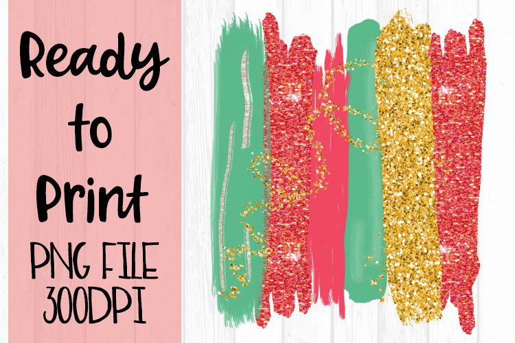 Holiday Paint Brush Strokes Ready to Print example image 1