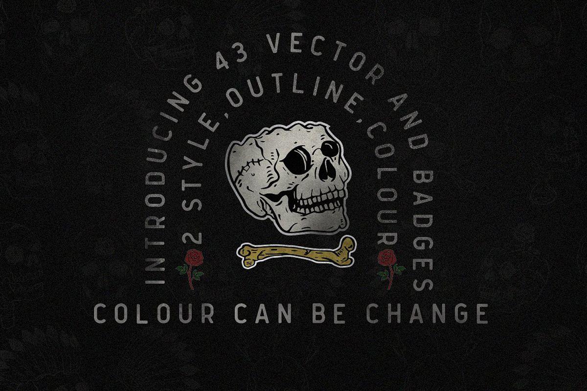 Vector Skull example image 1