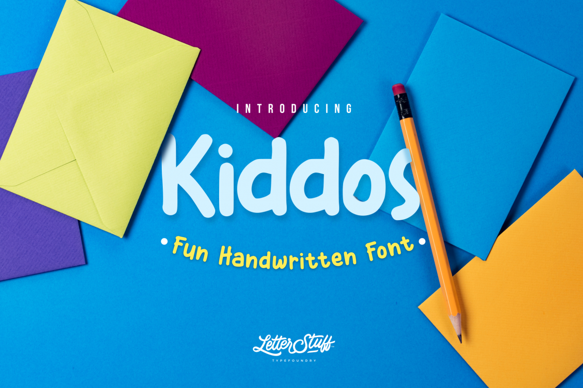 Kiddos Fun Handwritten font example image 1