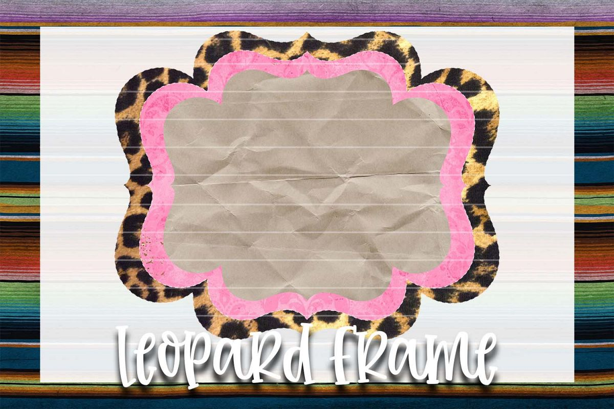 Light Pink & Leopard Frame Background Element example image 1