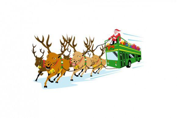Santa Claus Driving Bus example image 1