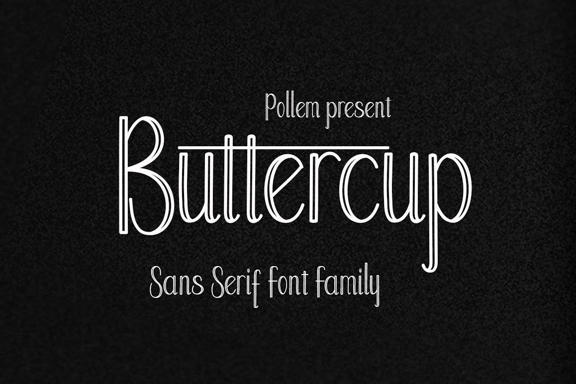 Buttercup Font Family example image 1