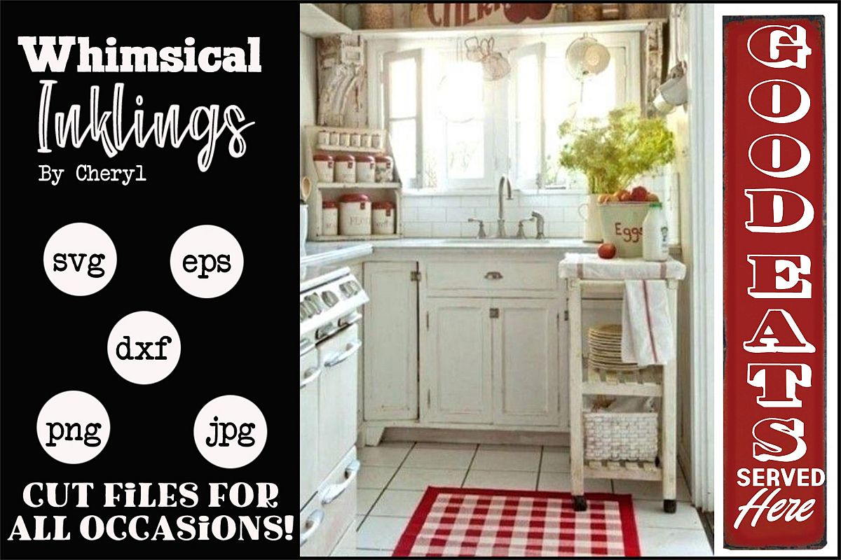 Good Eats Vertical Kitchen SVG example image 1