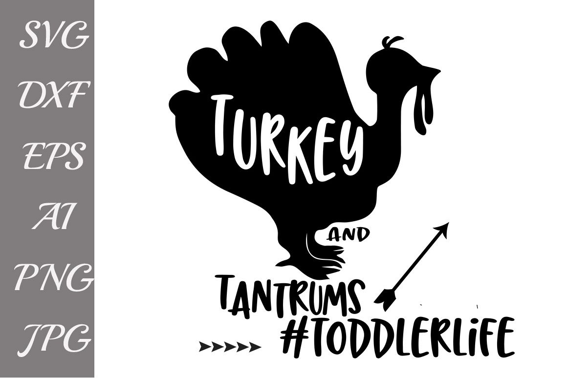 Turkey and Tantrums Svg example image 1
