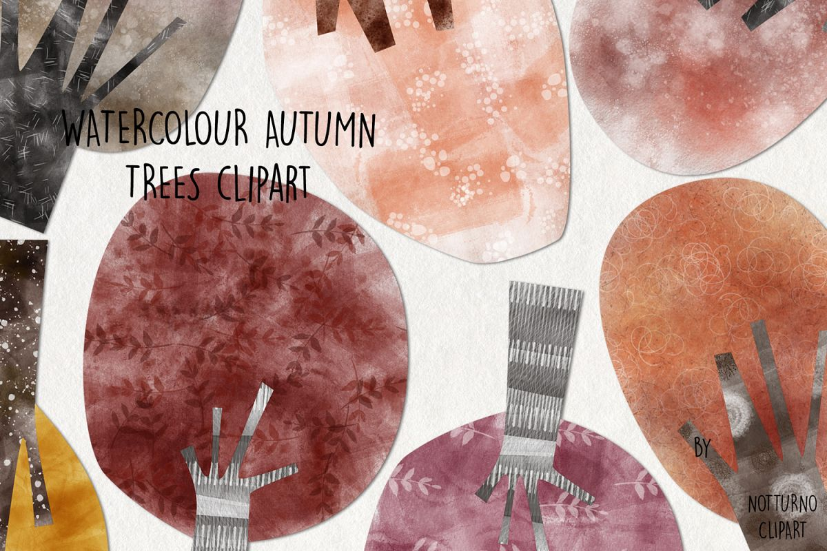 Watercolor Autumn Trees example image 1