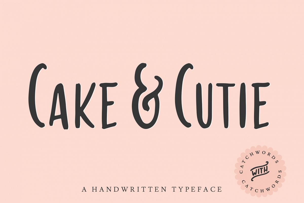 Cake & Cutie | A Handwritten Typeface example image 1