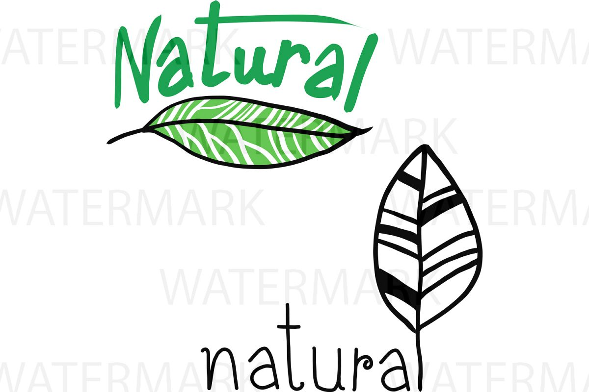 Nature with Leaves - SVG/JPG/PNG - Hand Drawing example image 1