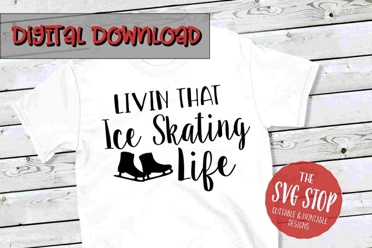 Ice Skating Life -SVG, PNG, DXF example image 1