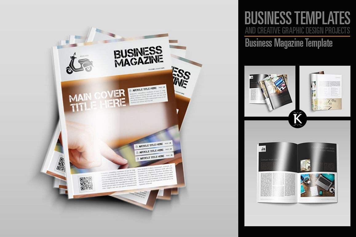 Business Magazine Template example image 1