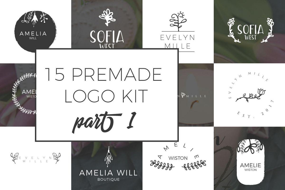 Feminine Premade Logo Kit part 1 example image 1
