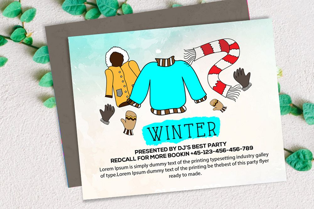 Winter Card Template example image 1